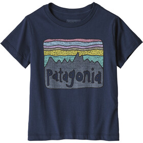 Patagonia Fitz Roy Skies Organic T-Shirt Kinder new navy